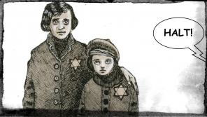 Příběh Anity Frankové v komiksu Ještě jsme ve válce, kresba Miloš Mazal