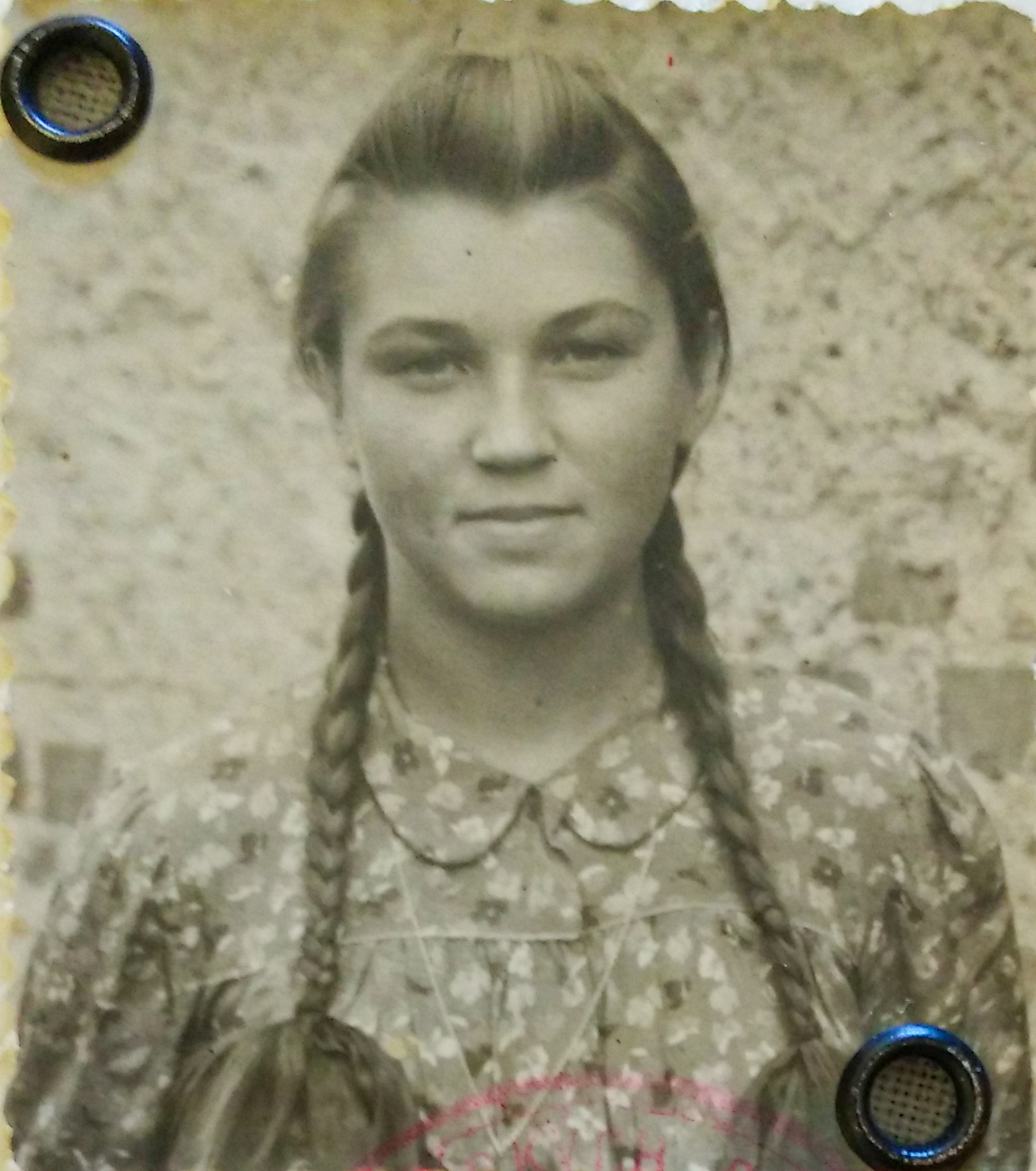 "Anna Bergerová, photo from the identification of ""Union of Slovak Partisans"""
