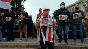 Demonstrace na podporu Pavla, 23. 8. 2020.  Zdroj: Facebook se souhlasem majitele účtu