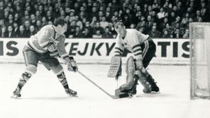 Přátelské utkání se Švédskem v sezóně 1967/68.