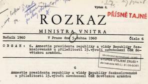 Rozkaz ministra vnitra z roku 1960. Zdroj: Ústav pro studium totalitních režimů