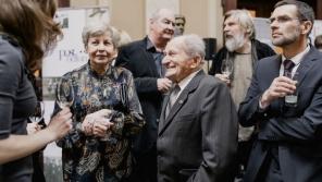 Milena Blatná a František Wiendl během udílení Cen Paměti národa v roce 2017