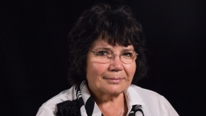 Eugenie Číhalová při natáčení pro Paměť národa v roce 2018. Foto: Paměť národa