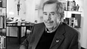 Václav Havel ve své kanceláři při natáčení rozhovoru
