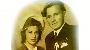Hermina Musilová a Miroslav Musil, svatební foto.