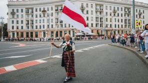 Nina Bahinskaja byla za účast v protestech nesčetněkrát zadržena a souzena. Zdroj: Nina Bahinskaja