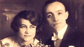 Svatební foto Johanna Husche a Hedviky rozené Weissové.