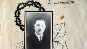 Otec Josef Holiš na ocenění in memoriam za statečnost. zdroj: Archiv pamětnice