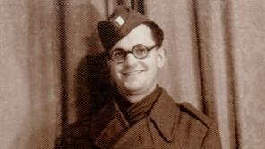 Stanislav Čáslavka na vojně v roce 1946.  Foto: Paměť národa