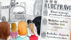 Komiks zpracovaný podle vyprávění Jana Pochmana žačkami ZŠ Petřiny – sever v rámci projektu Příběhy našich sousedů. Zdroj: Paměť národa