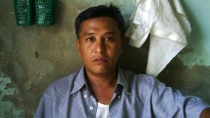 Linn Thant na fotografii z vězení, kterou pořídil propašovanou minikamerou. Foto: Paměť národa