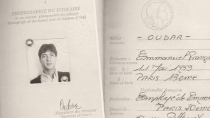 Pas Emmanuela Oudara, na který odjel Jindřich Tomeš v listopadu 1982 do Francie.