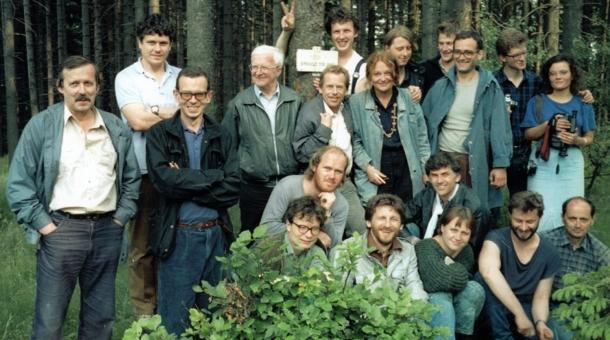 Setkání československých a polských disidentů na Borůvkové hoře v Rychlebských horách.