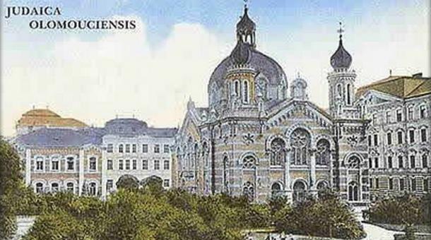 Pohlednice olomoucké synagogy – zdroj: Židovská obec Olomouc.