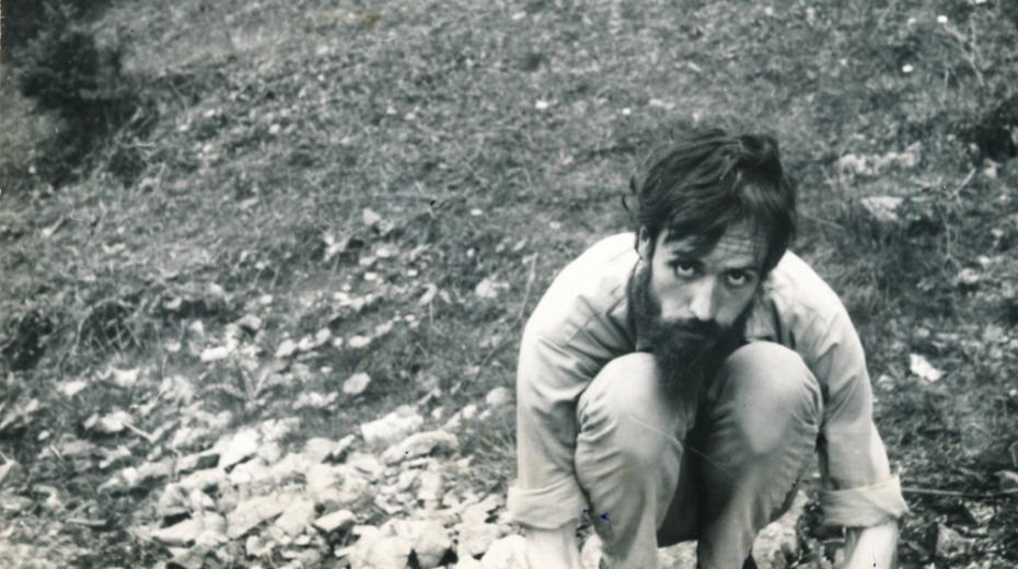 Miroslav Koval v Sobotíně u Šumberka v roce 1973.
