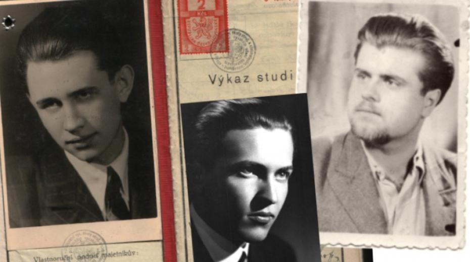 František Suchý, Zdeněk Boháč a Zdeněk Dittrich patřili mezi studenty, kteří se obávali převzetí moci komunistickou stranou. Foto Paměť národa