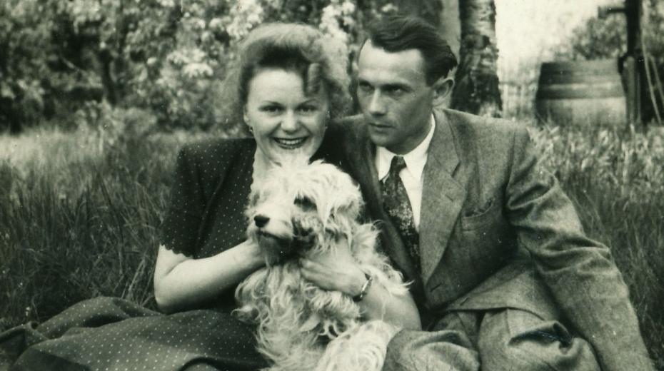 Hana se svým snoubencem Otakarem v roce 1949.
