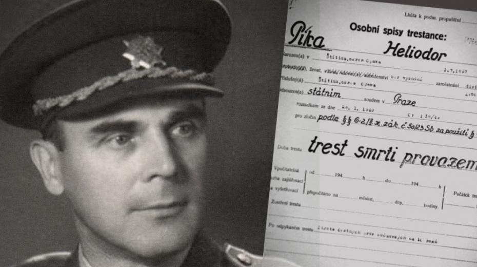 Generála Heliodora Píku popravili komunisté oběšením ve věznici na Borech v Plzni 21. června 1949.