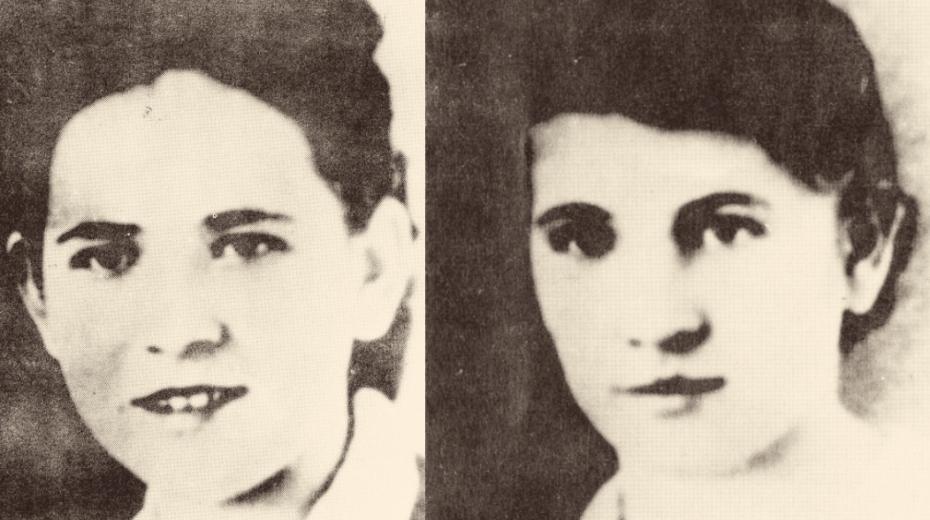 Sedmnáctiletá Anežka Ondrášková (vlevo) byla nejmladší obětí. Zastřelili ji a vhodili do hořícího domu s otcem Tomášem Ondráškem, bratry a švagrovou Annou (vpravo). Tomáši Ondráškovi mladšímu se podařilo i s průstřely uniknout, gestapo ho našlo v nemocnici.