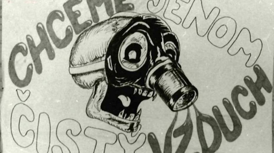 Plakát Chceme jenom čistý vzduch z teplické demonstrace. Zdroj: Český rozhlas