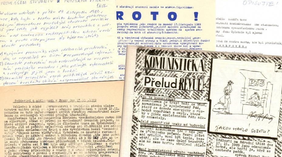 Studenti šířili své texty o zásahu na Národní třídě a svých požadavcích sami po celé republice.