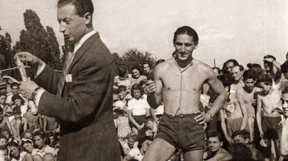 Fredy Hirsch (vpravo) na Hagiboru. Foto: Paměť národa