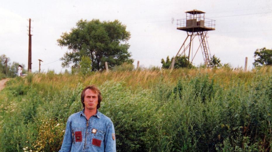 Jiří Barteček v Záhorské Vsi v roce 1990. Foto: Paměť národa