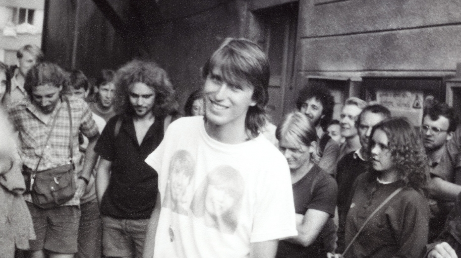 Pavel Šimon na srazu Havlíčkovy mládeže v den pochodu do Havlíčkovy Borové 29. července 1989. Foto: Muzeum Vysočiny Havlíčkův Brod
