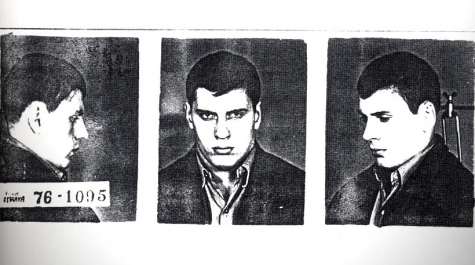 Fotografie Vladimíra Hučína z vězení v roku 1976.