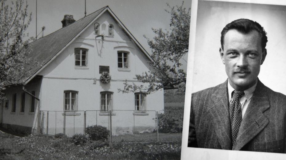 Dům Burdychových v Končinách, kde se ukrýval radista z výsadku Silver A Jiří Potůček. Foto: Paměť národa