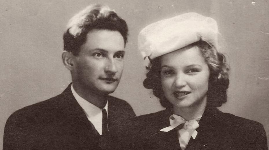 Svatební foto manželů Masníkových.