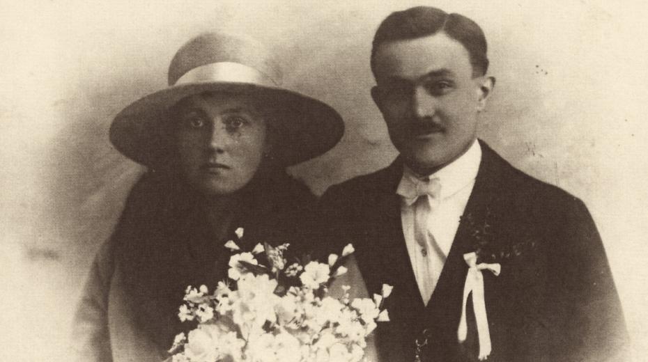 Novomanželé Anežka a František Černý. Zdroj: archív Jiřího Trojana