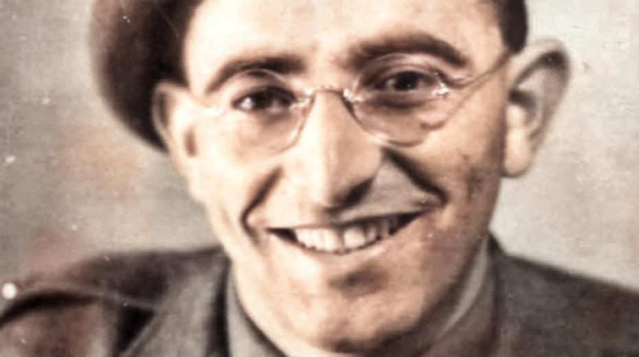 Bernard Papánek v roce 1942 jako voják čs. zahraniční armády. Zdroj: Paměť národa