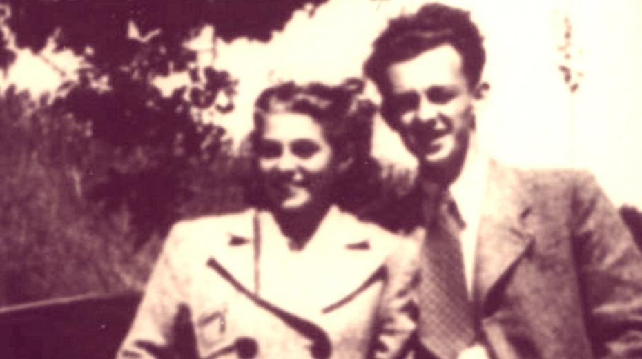 Jarmila Pelčáková a Gustav Svoboda jako zamilovaný pár v roce 1939. Zdroj: Paměť národa