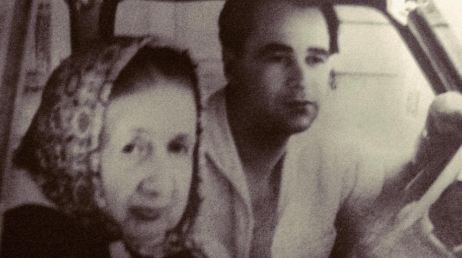 Emil Pupik s babičkou v Německu, kde se potkali náhodou v první zastávce ve Futh im Wald.