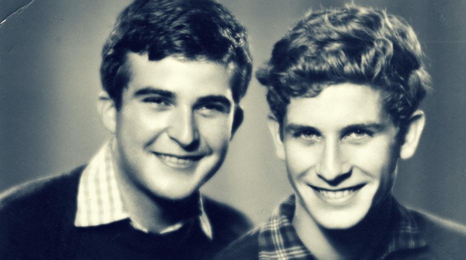 Jan a Karel (napravo) Šlingovi. Dlouho věřili, že byl jejich otec zrádce. Foto: Paměť národa.