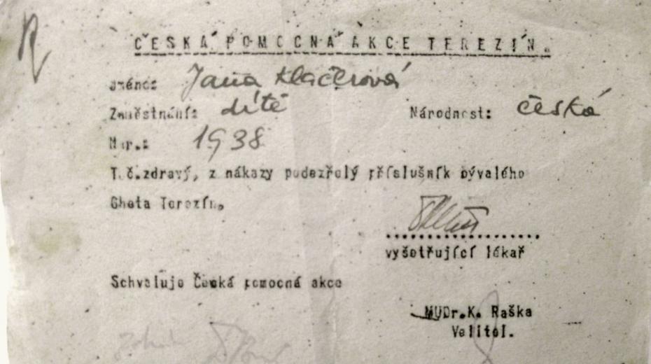 Na propouštěcím lístku Jany Urbanové, tehdy Klačerové, byl chybně uveden rok jejího narození, 1938 místo 1937.
