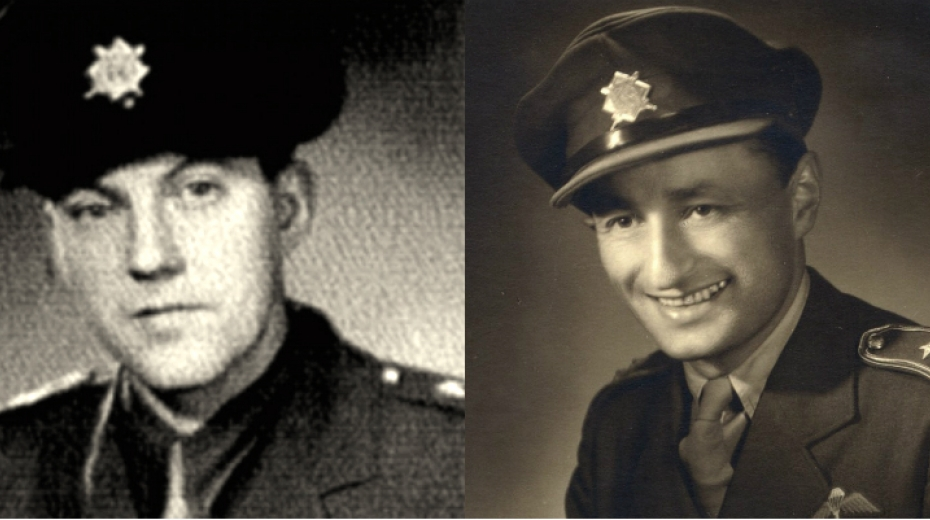 Výsadek Tungsten rotmistr Leopold Musil (vlevo) a kapitán Rudolf Pernický