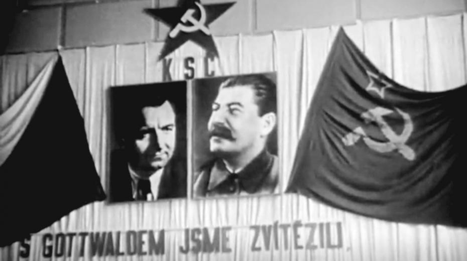 Záběr z amerického dokumentu Czechoslovakia Post World War II, zdroj Národní archív (National Archives)