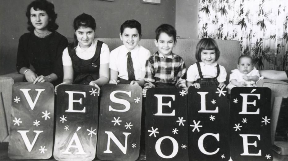 Vánoce rodiny Novákových v Montrealu v Kanadě v roce 1959.