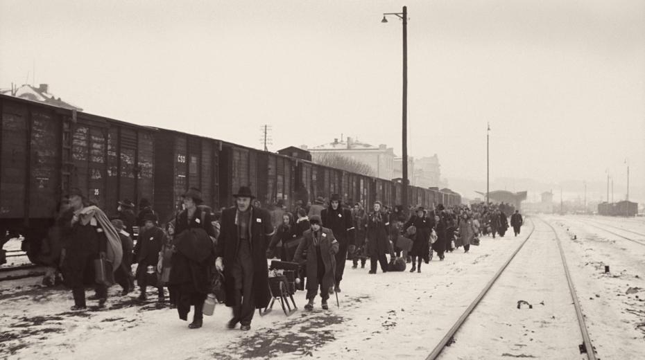 Dne 25. ledna 1946 odjel první transport Němců také z Mariánských Lázní. Foto: ČTK