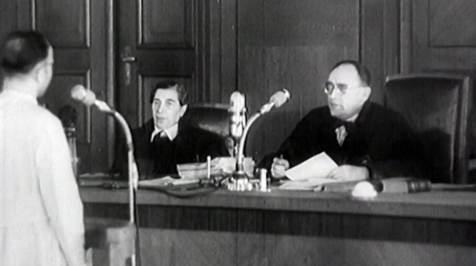 Soudní přelíčení v době socialismu.