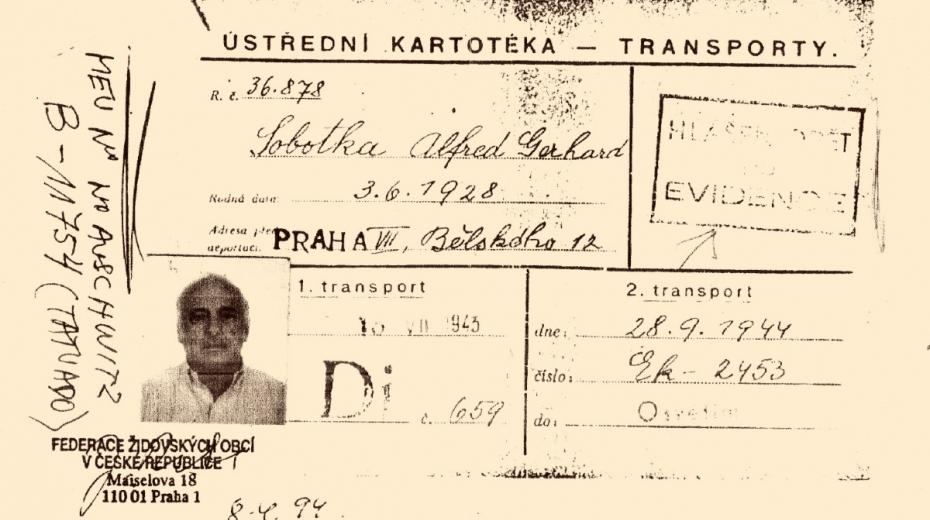 Výpis s daty transportů Freddyho Sobotky.
