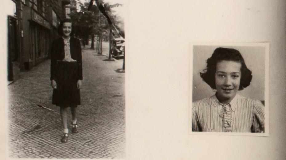 Stránka o Ruth Steckelmacherové v tzv. Wintonově scrapbooku, v němž náhradním rodinám v Anglii představoval děti z Československa.