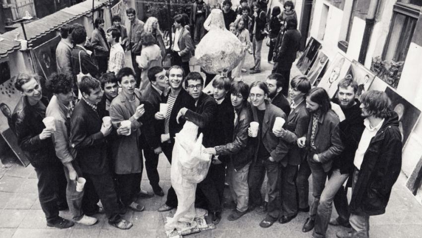 Tomáš Císařovský (vpravo) na akci Konfrontace v roce 1984. Foto: Paměť národa