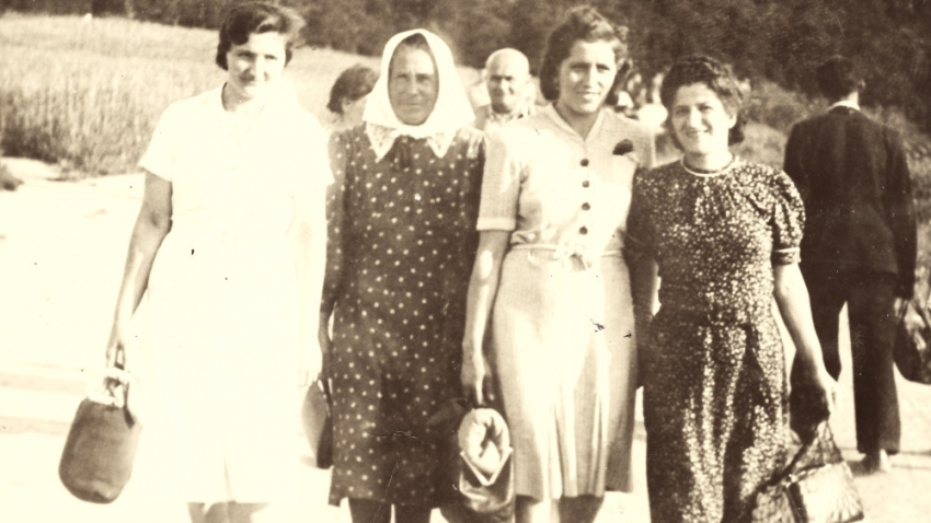 Anna Malinová (první z prava) v Nalžovských Horách. Foto: Paměť národa