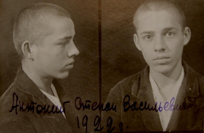 Štěpán Antonij při zatčení. Foto: Státní archiv Zakarpatské oblasti/ÚSTR