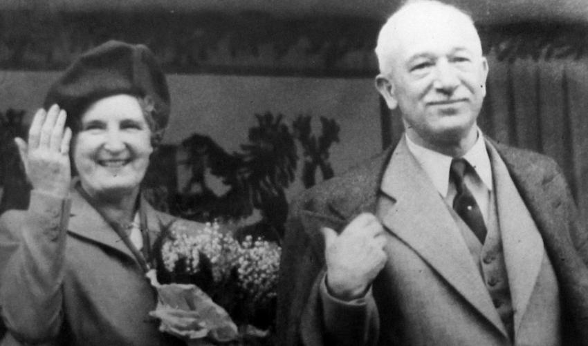 Studenti vkládali poslední naděje na zachování demokracie do prezidenta Beneše. Na fotografii z roku 1947 je s manželkou Hanou. Foto: Paměť národa/archív Břetislava Loubala
