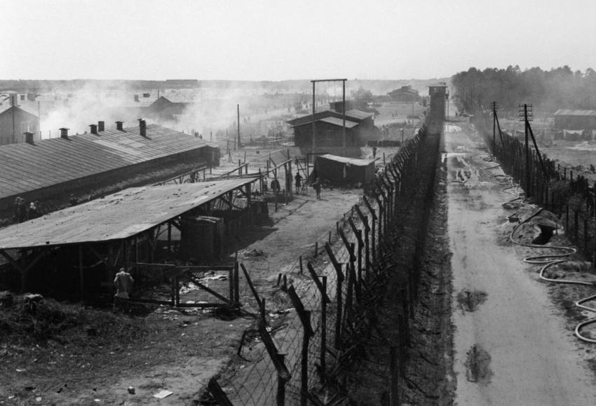 Nacistický koncentrační tábor Bergen-Belsen. Foto: Wikimedia Commons