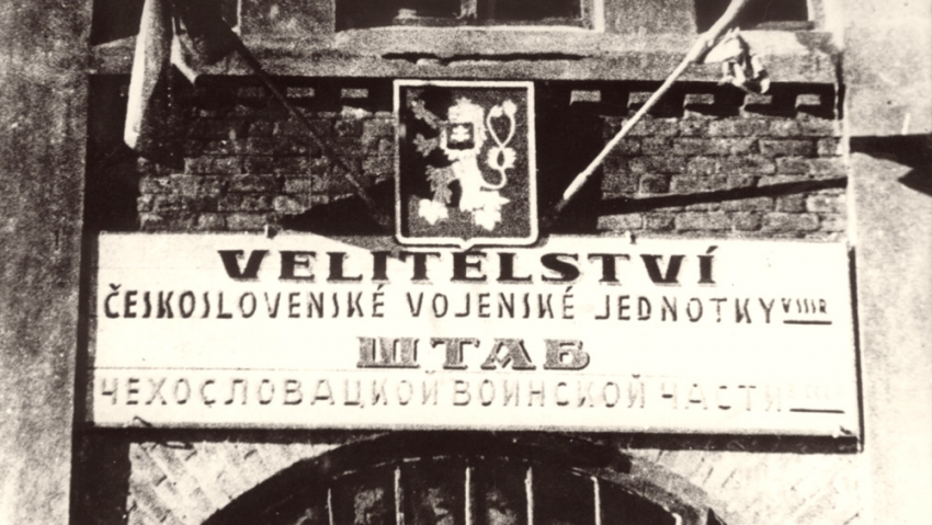 Velitelství československé jednotky v Buzuluku. Foto: Paměť národa